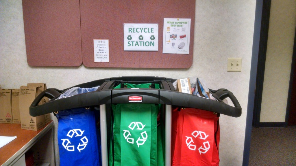 New Recycling Station at Hospice of Michigan