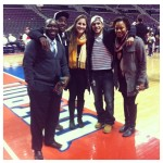 Fellows at the Pistons vs Spurs game.